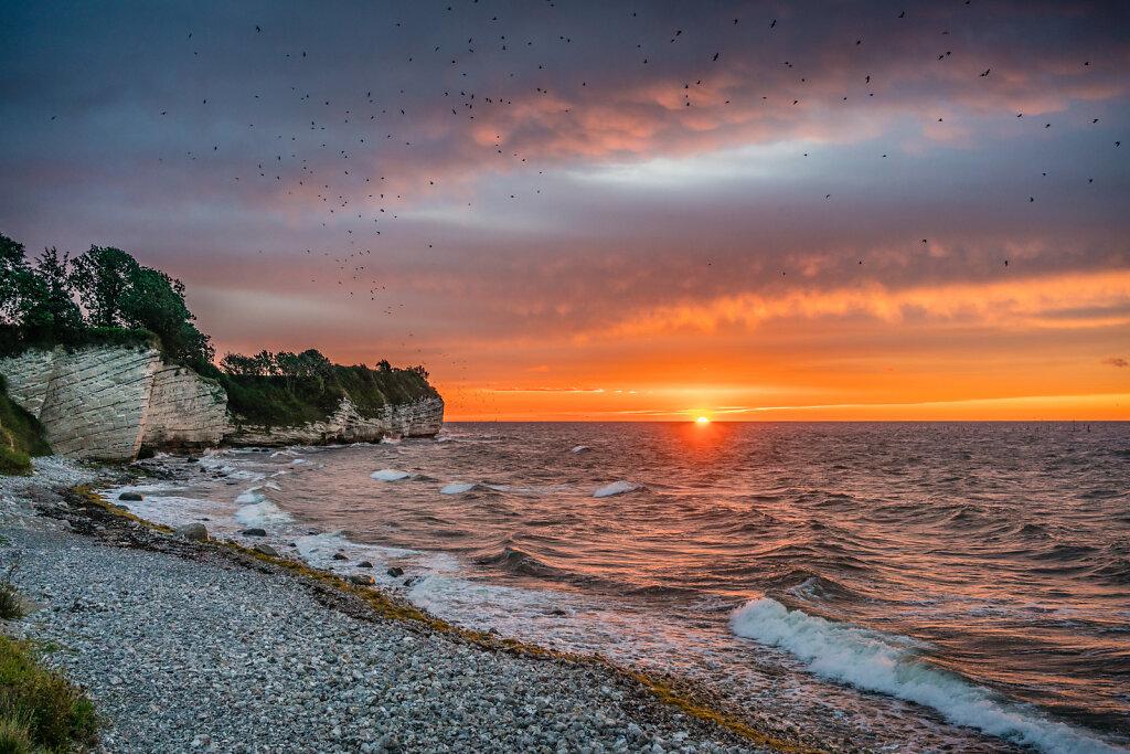 Stevns Klint solopgang
